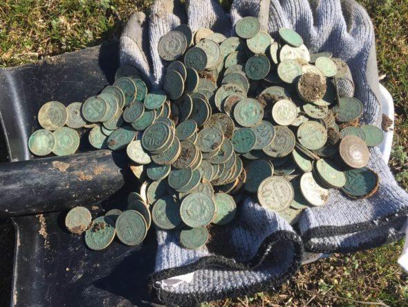 Клад!!!серебряные монеты