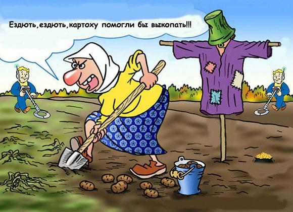 бабка копает монеты